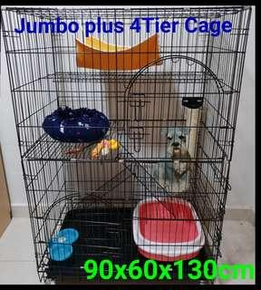 Cat Cage Jumbo Plus 4 Tier Pet Cage