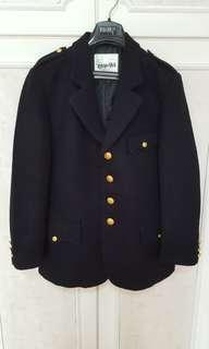 日本名牌 WTAPS 深藍色毛絨西裝外套