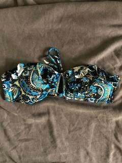 Printed Blue Top Bikini