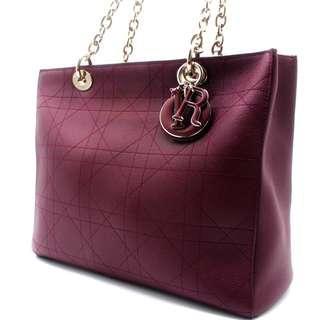 (RARE) Christian Dior Medium Ultra Dior Handbag (Grained Calfskin) (Plum)