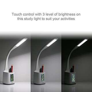 1884. KooPower Modern LED Desk Lamp with Pen Holder Flexible, 6W, 3-Level Brightness,