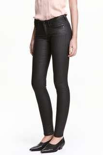 H&M coated skinny