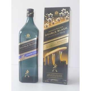 Awesome Singapore Limited Edition Design ! Johnnie Walker empty bottle Merlion , Marina Bay Sands