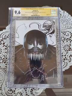 Venom 1 CGC SS 9.6 Sketch & Signed x2