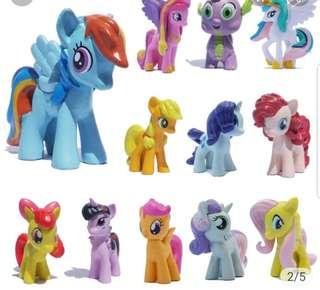 My Little Pony handpainted figurines / cake and cupcake toppers