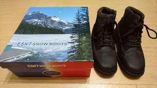 (二手)山頂鳥低筒沙丁布冰爪雪靴(深咖啡色)(41號)