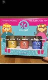 Children safe non-toxic nail polish sets Suncoatgirl made in Canada