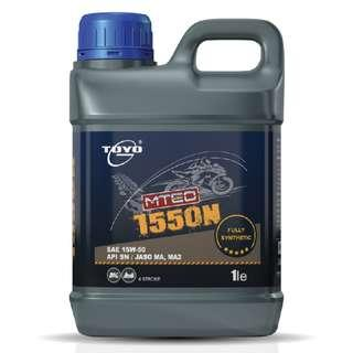 Fully Synthetic Motorcycles Engine Oil (15W-50) by TOYO (1L)