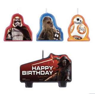 Licensed Star Wars party supplies - birthday candles / party deco / cake deco