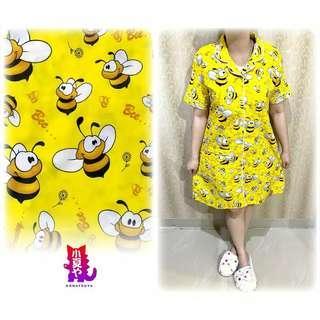 Baju Tidur Dress Bee kuning