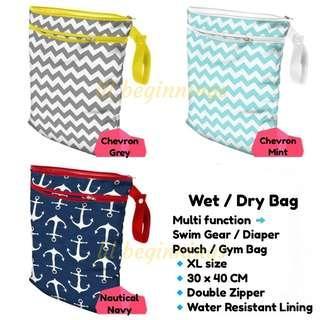 Swim Bag / Gym Bag / Diaper Pouch / Bag organizer