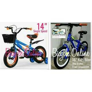 "Bicycles for Kids / Children (14"" $89, 16"" $149 *Suspension and Disc brakes) * Brand new."