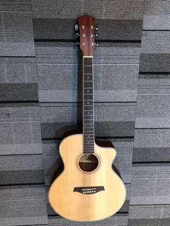 🚚 50% OFF Brand New Solid TOP Handcrafted Semi Acoustic Guitar