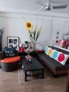 Designer Deco Renovated 3room Corner flat at Blk 75 Bedok North Road