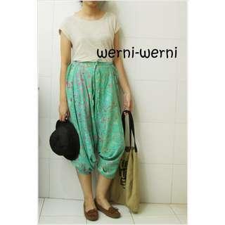 (NEW)  Celana Batik Alibaba Ijo