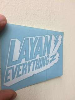 Layan Everything (Car Sticker)