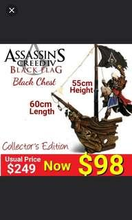 Assassin Creed Black Flag collector's edition figurine - The Black Chest Set. (Brand New in Original Chest Box & Sealed ) Usual Price  $249 Now : $98. Last piece left.