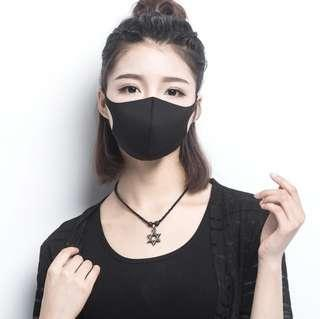 Po High Quality Black Mouth Face Unisex Respirator Mask