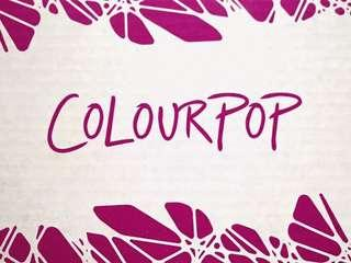 End 18/01 Colourpop Spree
