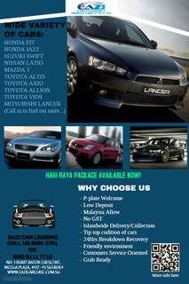 Toyota Cheapest Car Rental - $50 onwards (Brought to you by Eazi Car)