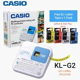 Casio Business Label Printer KL-G2/Free 1 Pack Label/Ready Stock! Free Local Delivery!