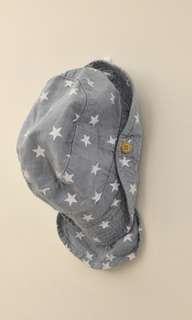 🚚 日本 西松屋 純棉牛仔布帽 有脖子防曬設計 52cm