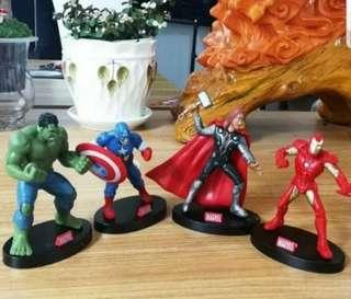 Avengers figurines car display/ cake/ party decorations