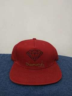 Diamond Supply Co. Dark Red Snapback