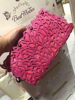 桃紅色手拿袋
