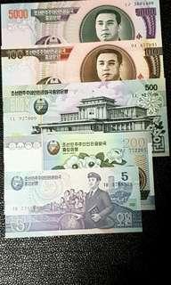 North Korea Bank Note