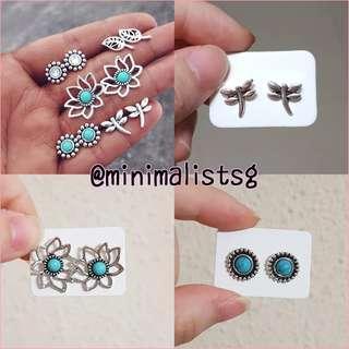 🚚 5pairs/set minimalist bohemian earrings