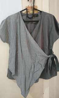 Kimono Style Grey Shirt
