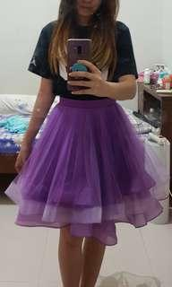 Purple layer party skirt rok