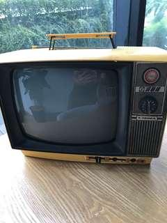 Yellow retro vintage television
