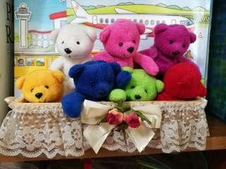 Little Toy Bears in multi colour