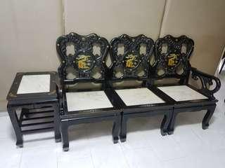 🚚 Rosewood Chair Sofa Table (Set of 7pcs)
