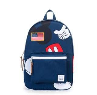 ON HAND: LIMITED EDITION Authentic Herschel Supply Co. Settlement Backpack - Mickey Mouse - Navy Blue