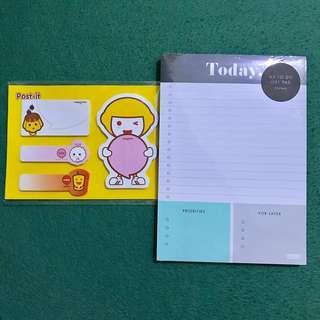 Kikki.k Notepad and Post-it Notes