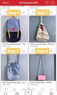 Bundle sale! (1) Bag + (1) Pouch/Wallet/Organizer