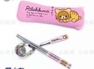 🚚 小貓拉拉熊 粉紅女孩 餐具組