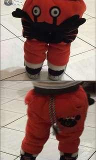 🚚 螃蟹造型設計舖棉褲子