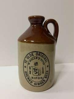 Old Stoneware Ginger Ale Pitcher; Possibly from British Malaya; 1880 - 1930s.