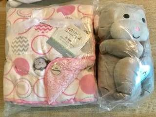 Brand new set blanket & plush-Bedtime Originals
