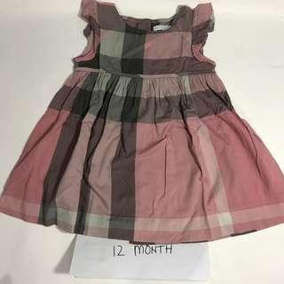 Preloved Burberry - 12 Months ( pink )