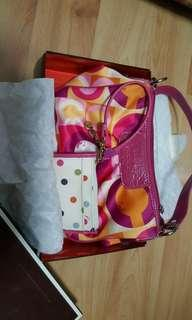 Coach evening bag and card holder