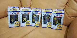 *SALE Universal Studios Minion Frosted Glass from Japan