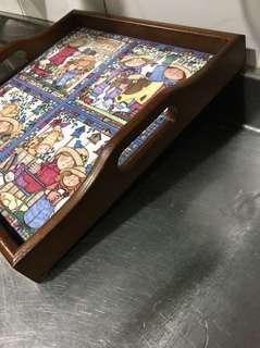 原木馬賽克藝術托盤(年前大放送201含運,請快囉!太物超所值了!內行人都知道這個價格喔!)