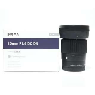 Sigma 30mm f1.4 DC DN Lens for Sony E-Mount 99% new, w.ty 06/2020