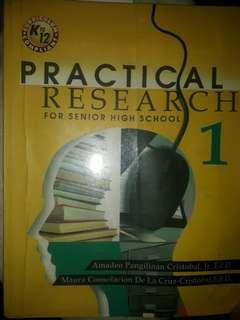 Practical Research 1 for senior high school