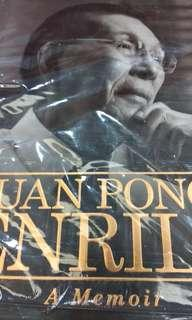 Juan Ponce Enrile - A memoir Like New